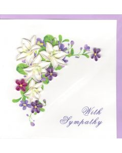 Sympathy Card - Floral Quilling