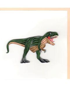 Quilling Card - T-Rex Dinosaur