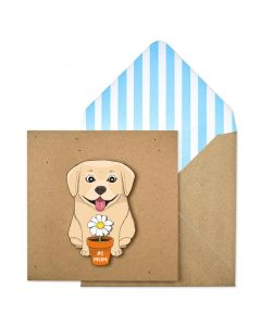 MUM Card - #1 Mum (Dog & Flowerpot)