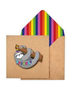 Greeting Card - Sloth