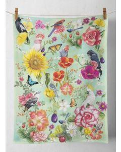 Tea Towel - Secret Garden Birds design