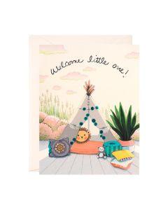New BABY Card - Teepee