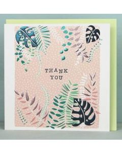 Thank you - foil ferns & leaves