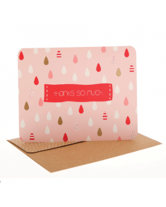 Raindrops Pink Thank You Cards