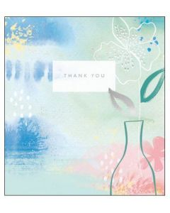 Thank you - Vase on pastel colours