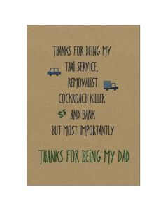 'Thanks for being my Dad' Card