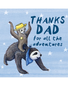 Adventure Sloths Card