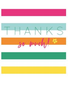Thanks so much - Colourful striped background