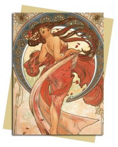 Greeting Card - The Arts: Dance by Alphonse Mucha, 1898