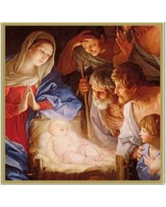 The Adoration of the Shepherds Christmas Card