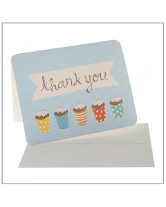Blue Sprinkles Thank You Cards