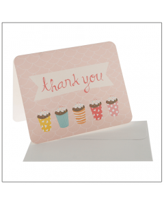 Pink Sprinkles Thank You Cards