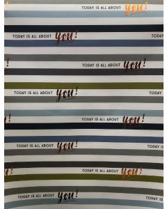 Folded Wrapping Paper - Today is All About You