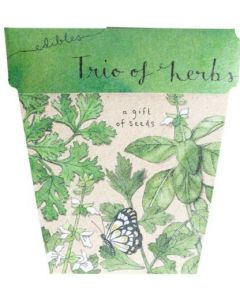 Trio of Herbs - Card & Gift of Seeds