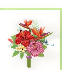 Quilling Card - Tropical Flowers