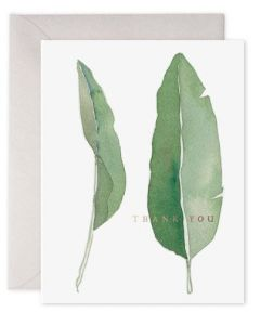THANK YOU Card - Watercolour Leaves