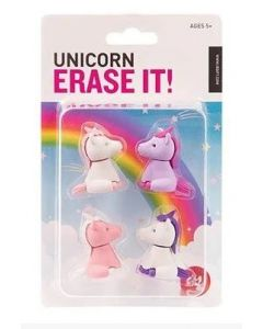 Unicorn Erase it!- set of 4 erasers