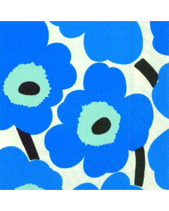 Unikko Blue Luncheon Napkins (Pack of 20)