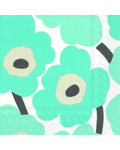 Unikko Turquoise Luncheon Napkins (Pack of 20)