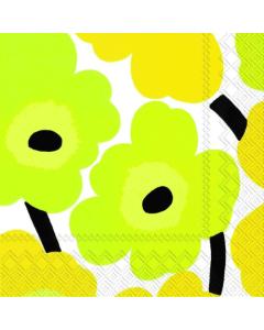 Unikko Yellow Luncheon Napkins (Pack of 20)
