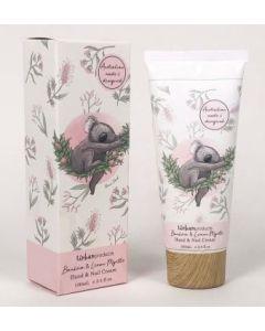 Banksia & Lemon Myrtle Hand & Nail cream -  Relaxed koala design - 100ml