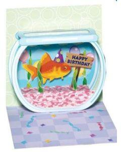 Birthday Goldfish - 3D pop-up card