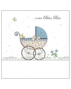 'A new Baby Boy! Congratulations' greeting card