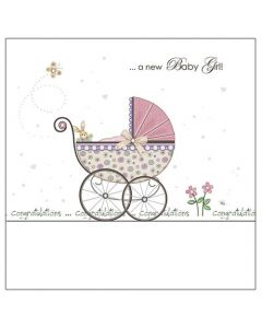 'A new Baby Girl! Congratulations' Card