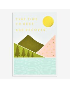 GET WELL Card - Take Time