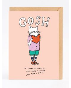 Greeting Card - Gosh