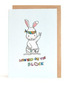 New BABY Card - New Kid on the Block