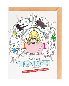 GET WELL Card - Tough Cookie