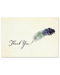 Watercolour Quill Thank You Notecard Box