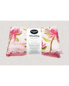 Wheatbag - Warratah design with calming organic lavender scent