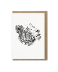 White Lioness Card