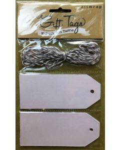 Tag & Twine Pack - WHITE (10 tags)