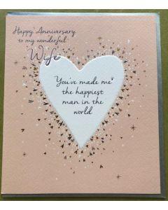 Wife Anniversary - White heart