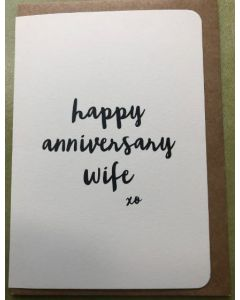 Wife Anniversary - Script on cream