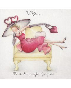 'Wife... Heart Stoppingly Gorgeous!' Card