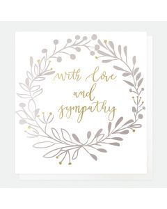 SYMPATHY Card - With Love and Sympathy