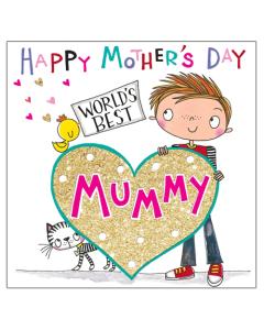 'Worlds Best Mummy' Card