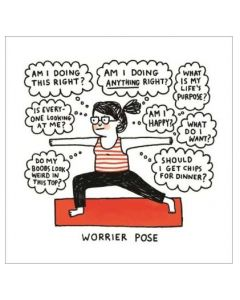 'Worrier Pose' - Yoga thought bubbles