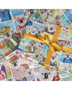 Folded Wrapping Paper - Koala Holiday