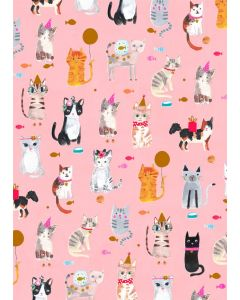 Folded Wrapping Paper - Cat Tales