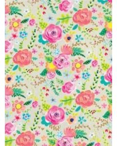 Folded Wrapping Paper - Bright Flowers