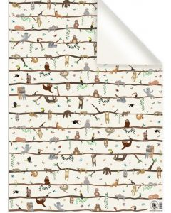 Folded Wrapping Paper - Sloths