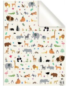 Folded Wrapping Paper - Party Animals
