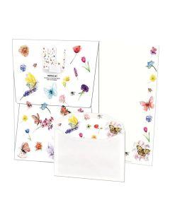 Writing Set - Butterflies & Flowers by Michelle Dujardin