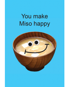 Greeting Card - Miso Happy