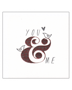 'You & Me' Card